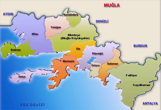 Image result for muğla menteşe haritası